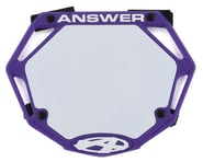 Answer 3D BMX Number Plate (Purple) | product-also-purchased