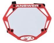 Answer 3D BMX Number Plate (Red) | product-related