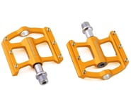 """Bombshell Mini Pump Pedals (Gold) (9/16"""") (Pair) 