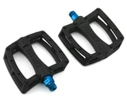 """Colony Fantastic Plastic Pedals (Black/Blue) (Pair) (9/16"""") 