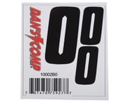 "Dan's Comp BMX Numbers (Black) (2"" x 2, 3"" x 1) 