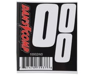 "Dan's Comp BMX Numbers (White) (2"" x 2, 3"" x 1) 