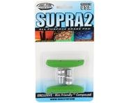 Kool Stop Supra 2 Brake Pads (Threaded) (Lime Green) (Pair) | product-related
