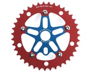 MCS Alloy Spider & Chainring Combo (Blue/Red)   product-related