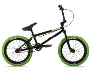 "Stolen 2021 Agent 16"" BMX Bike (16.25"" Toptube) (Black/Neon Green) 
