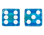 """Trik Topz """"Dice"""" Schrader Valve Stem Caps (Clear Blue) (2) 