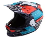 Troy Lee Designs D3 Fiberlite Full Face Helmet (Vertigo Blue/Red) | product-related