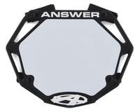 Answer 3D BMX Number Plate (Black)