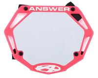 Answer 3D BMX Number Plate (Pink)