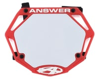 Answer 3D BMX Number Plate (Red)