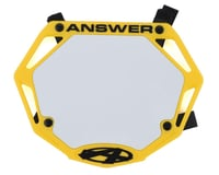 Answer 3D BMX Number Plate (Yellow)