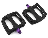 Colony Fantastic Plastic Pedals (Black/Purple) (Pair)
