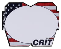 Crit BMX Products Carbon Number Plate (Red/White/Blue)