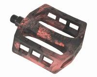 Demolition Trooper Plastic Pedals (Black/Red Swirl) (Pair)