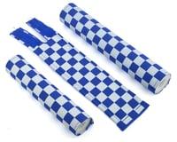 Flite Checkerboard BMX Padset (Blue/White)