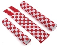 Flite Checkerboard BMX Padset (Red/White)