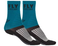 Fly Racing Factory Rider Socks (Blue/Black/Grey)