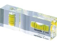 Hozan Z-340 Level Gauge 75mm x 25mm x 15mm Clear Plastic, 31g
