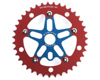 MCS Alloy Spider & Chainring Combo (Blue/Red)