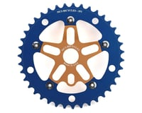 MCS Alloy Spider & Chainring Combo (Gold/Blue)