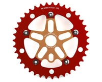 MCS Alloy Spider & Chainring Combo (Gold/Red)