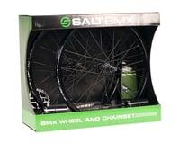 Salt Valon Wheel & Chainset (Black) (Wheels, Sprocket, Chain, Pegs)