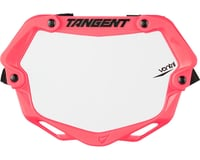 Tangent Mini Ventril 3D Number Plate - Neon Pink/White
