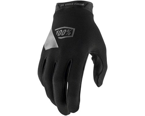 100% Ridecamp Men's Full Finger Glove (Black/Blue) (2XL)