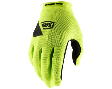 100% Ridecamp Gloves (Fluo Yellow) (L)
