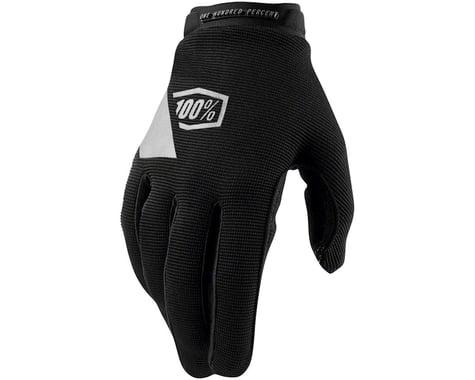 100% Ridecamp Women's Full Finger Glove (Black) (L)