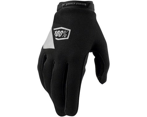 100% Ridecamp Women's Full Finger Glove (Black) (XL)