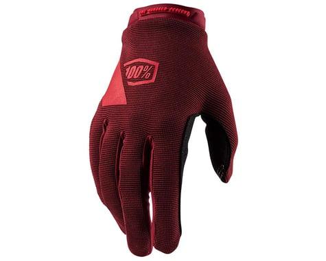 100% Ridecamp Women's Full Finger Glove (Brick) (L)