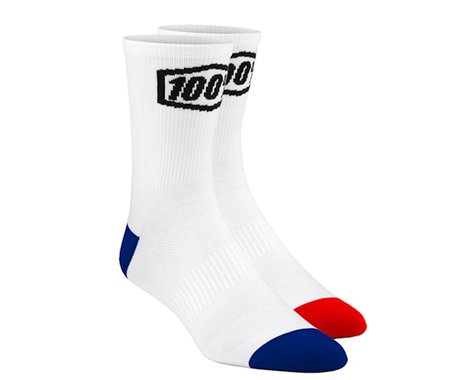 100% Terrain Socks (White) (L/XL)