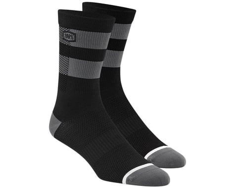 100% Flow Socks (Black/Grey) (S/M)