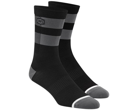 100% Flow Socks (Black/Grey) (L/XL)