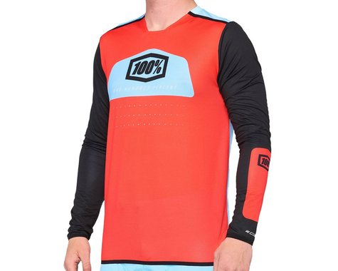 100% R-Core X Jersey Fluo (Red) (L)