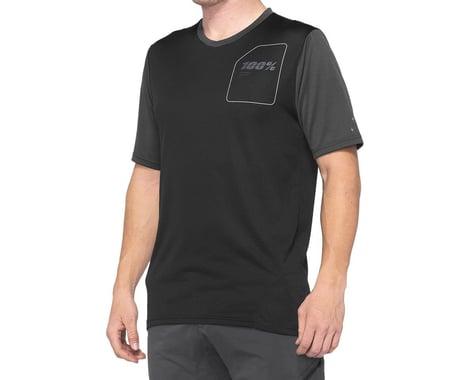 100% Ridecamp Men's Short Sleeve Jersey (Charcoal/Black) (M)