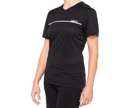 100% Women's Ridecamp Jersey (Black) (M)