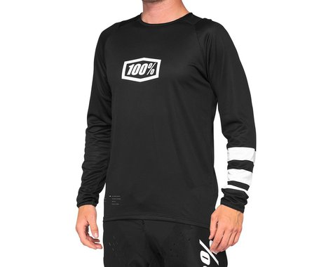 100% R-Core Youth Jersey (Black/White) (Youth S)