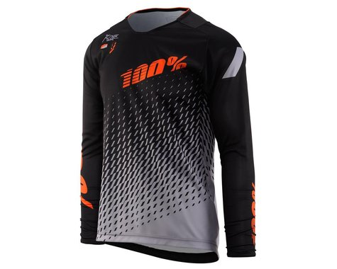 100% R-Core Youth Jersey (Black) (Youth M)