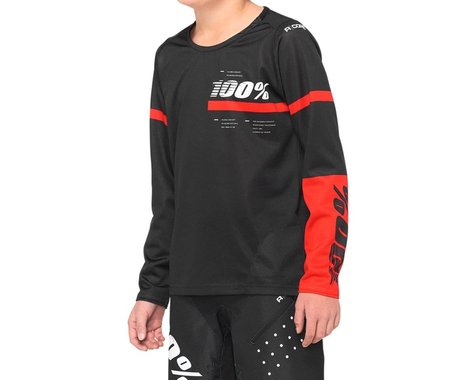 100% R-Core Youth Jersey (Black) (Youth L)