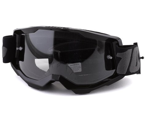 100% Strata 2 Youth Goggles (Black) (Clear Lens)