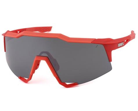 100% SpeedCraft Sunglasses (Soft Tact Coral) (Black Mirror Lens)
