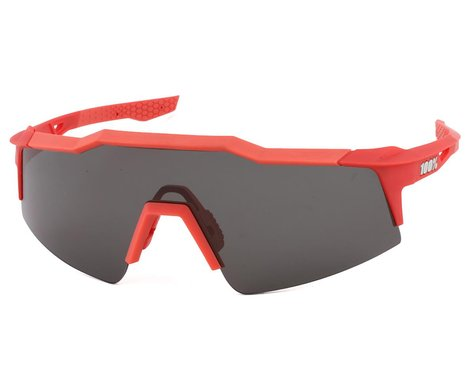 100% SpeedCraft SL Sunglasses (Soft Tact Coral) (Smoke Lens)