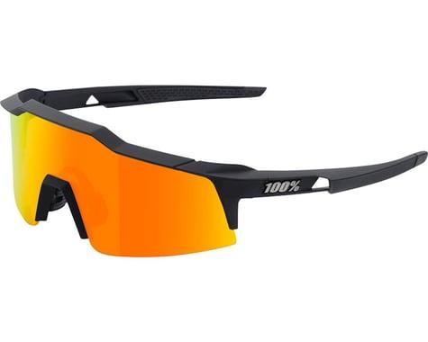 100% Speedcraft SL Sunglasses (Soft Tact Black) (HiPER Red Multilayer Lens)