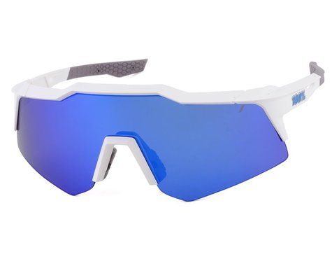 100% SpeedCraft XS (Matte White) (Blue Multilayer Mirror Lens)