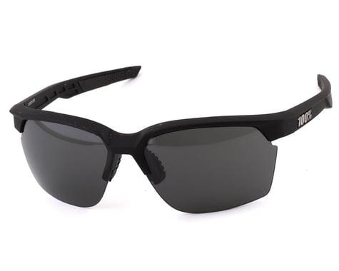 100% Sportcoupe Sunglasses (Soft Tact Black) (Smoke)