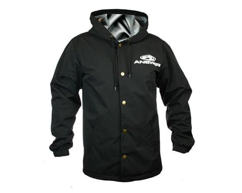 Answer Hooded Windbreaker (Black) (Button Up) (XL)