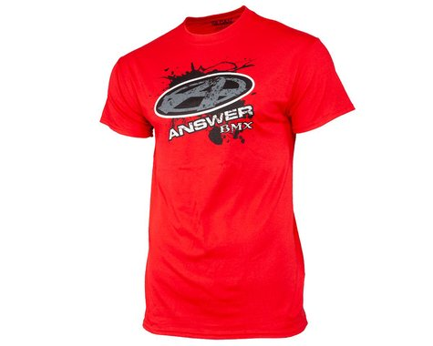 Answer Short Sleeve T-Shirt (Red) (M)