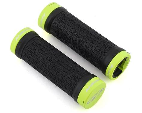Answer Mini Lock-On Grips (Black/Flo Yellow) (Pair) (Flangeless)